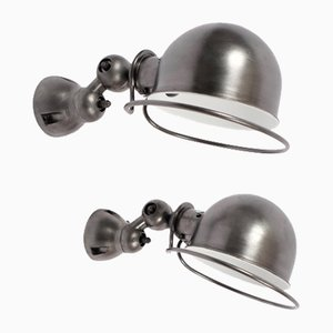 Mid-Century Steel Sconce by Jean-Louise Domecq for Jieldé, 1950s