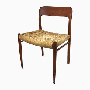 Danish Teak and Rope Dining Chairs by Niels Otto Møller for J.L. Møllers, 1960s, Set of 2