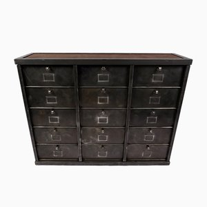French Metal Filing Cabinet from Strafor, 1950s