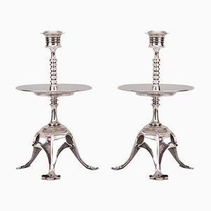 Antike Babbitt Kerzenhalter, 1890er, 2er Set
