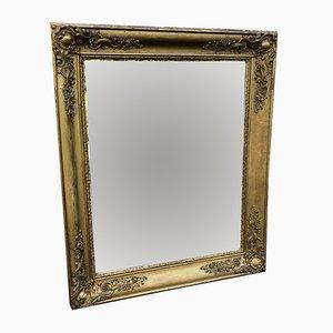 Specchio in stile Luigi Filippo antico intagliato in legno e gesso, Francia