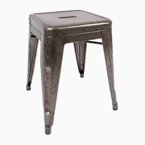 Mid-Century French Metal and Paint Stool from Tolix, 1950s
