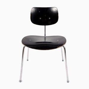 Sedia da pranzo in metallo e legno di Egon Eiermann per Wilde+Spieth, anni '50
