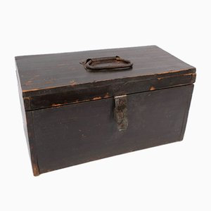 Small French Vintage Wooden Box