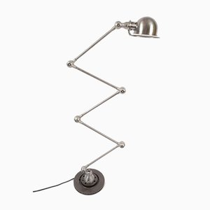 Industrial French Steel Floor Lamp by Jean-Louis Domecq for Jieldé, 1950s