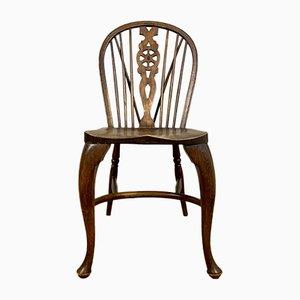 Chaise d'Appoint Vintage en Hêtre et Orme, 1920s