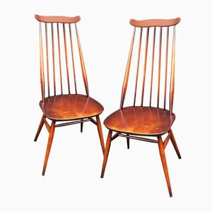 Mid-Century Elm Dining Chairs from Ercol, 1969, Set of 2