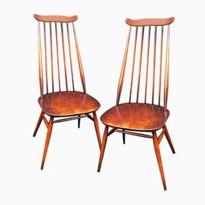 Mid-Century Esszimmerstühle aus Ulmenholz von Ercol, 1969, 2er Set