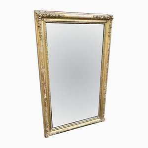 Specchio in stile Luigi Filippo antico in legno intagliato e gesso, Francia