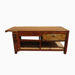 Mid-Century Industrial Elm and Fir Worktable, 1940s