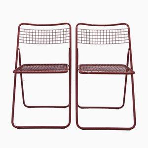 Chaises Pliantes Scandinaves Rouges par Niels Gammelgaard pour Ikea, 1970s, Set de 2