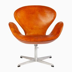 Scandinavian Modern Danish Aluminum and Leather Armchair from Fritz Hansen, 1960s