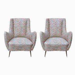 Italienische Sessel aus Messing von Gio Ponti für ISA Bergamo, 1950er, 2er Set