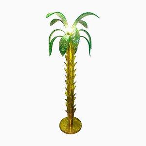 Lampada da terra a forma di palma in vetro di Murano, anni '60