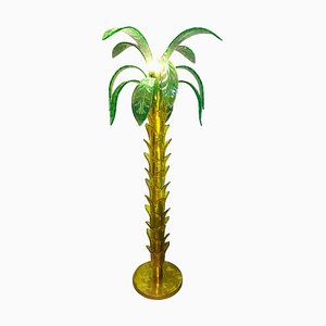 Murano Glass Palm Tree Floor Lamp, 1960s