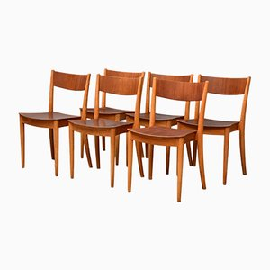 Danish Dining Chairs by Peter Hvidt & Orla Mølgaard-Nielsen for Portex, 1940s, Set of 6