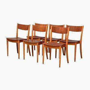 Sedie da pranzo di Peter Hvidt & Orla Mølgaard-Nielsen per Portex, Danimarca, anni '40, set di 6