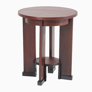 Art Deco Mahogany Side Table from J.J. Zijfers, 1920s