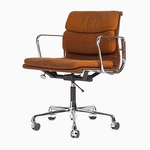 Silla de escritorio modelo EA217 alemana de aluminio y tela de Charles & Ray Eames para Herman Miller, años 70
