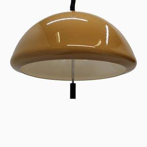 Lampada da soffitto in vetro di Meblo, Italia, anni '70