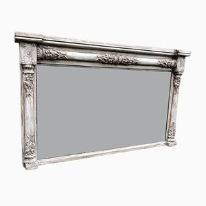 Antique English Overmantel Mirror