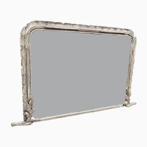 19th Century French Pine Overmantel Mirror