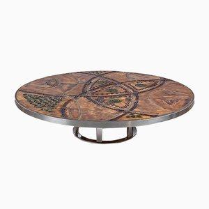 Table Basse en Céramique par Just Lichtenberg pour Poul Cadovius, France, 1960s