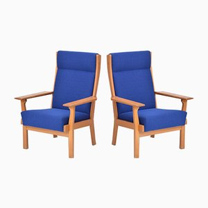 Danish Oak Armchairs by Hans J. Wegner for Getama, 1970s, Set of 2