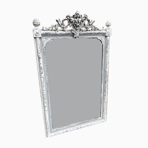 19th Century French Carved Wood & Gesso Mirror