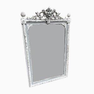 Miroir en Bois Sculpté et Gesso, France, 19ème Siècle