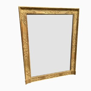19th Century Louis Philippe French Carved Wood & Gesso Mirror