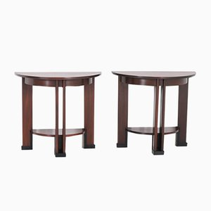 Art Deco Mahogany Console Tables from J.J. Zijfers, 1920s, Set of 2