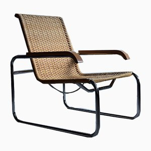 S35 Plating Club Chair by Marcel Breuer for Thonet, 1970s