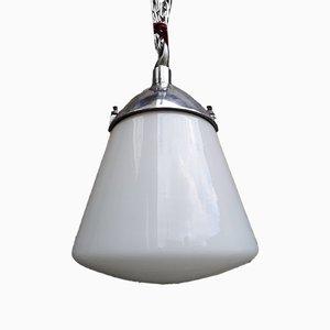 Lampada da soffitto in vetro opalino di Marianne Brandt per Kandem Leuchten, Germania, anni '50