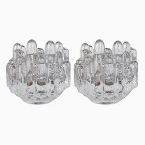 Schwedische Kerzenhalter aus Kristallglas von Kosta Boda, 1960er, 2er Set