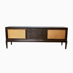 Scandinavian Modern Style Oak and Cane Credenza by H. W. Klein for Bramin, 1960s