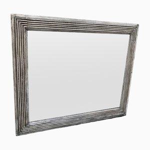 Französischer Spiegel im Rahmen aus geschnitztem Holz & Gesso, 19. Jh