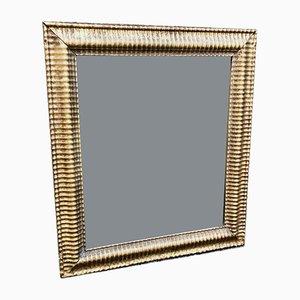 Französischer Bistro Spiegel im Rahmen aus geschnitztem Holz & Gesso, 19. Jh