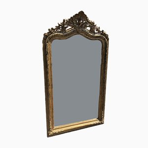 19th Century French Carved Wood & Gesso Bistro Mirror