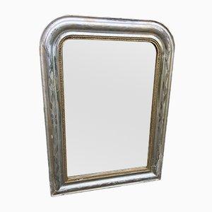 Specchio Luigi Filippo in legno intagliato e gesso, Francia, XIX secolo