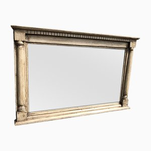 Antique English Carved Wood Overmantel Mirror