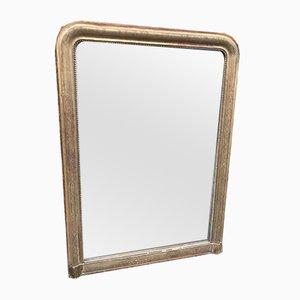 Specchio grande antico in legno intagliato e gesso, Francia
