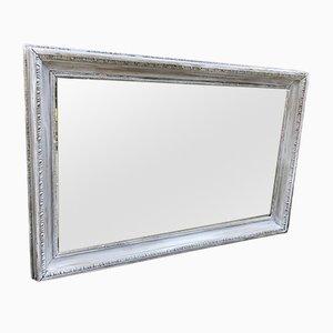 Antiker Spiegel mit geschnitztem Holzrahmen