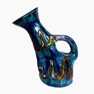 Italienische Mid-Century Keramikvase von Bedin Lina, 1956