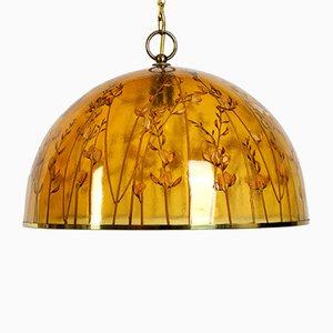 Lámpara de techo italiana moderna vintage de resina, años 70