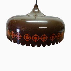 Lámpara colgante danesa de acero esmaltado de Kaj Franck para Fog & Mørup, años 60