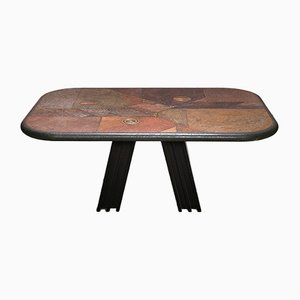 Brutalist Coffee Table from Fedam, 1980s