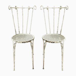 Mid-Century French Iron Garden Chairs, 1950s, Set of 2