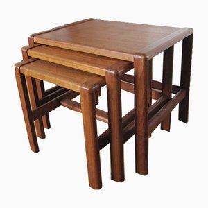 Tavolini ad incastro moderni di Svend Åge Madsen per Karl Lindegaard, Scandinavia, anni '60