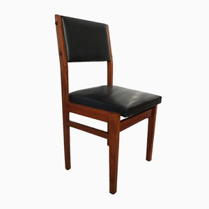 Mahogany and Skai Dining Chair by Cruz Carvalho for Interforma, 1960s
